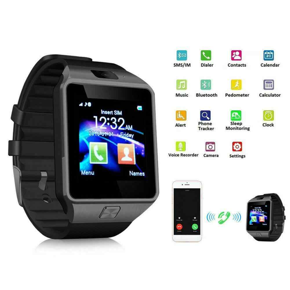 Hot Menjual Smart Watch DZ09 Inteligente Relojes Smartwatch Relogios TF SIM Kamera untuk Ios iPhone Samsung Xiaomi Android Ponsel