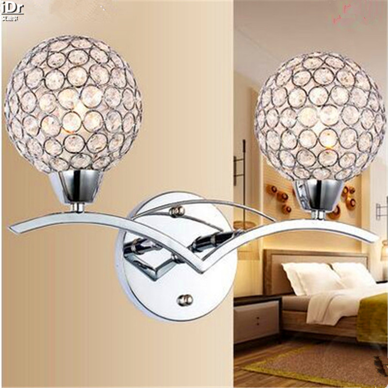 Chinese antique bedside crystal lamps, elegant style home bedroom living room Hotel hall  Wall Lamps  Rmy-0306