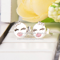 2018 Spring S925 Sterling Silver Playful Winks With Enamel Stud Earrings For Women Fashion Jewelry EA106