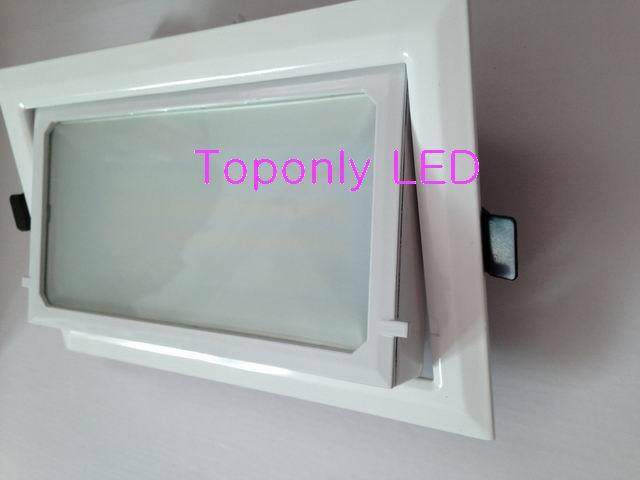 ФОТО 30w rotatable led square downlight AC100-240V 3000lm color white directly replace Philips traditional downlight MBN200 48pcs/lot
