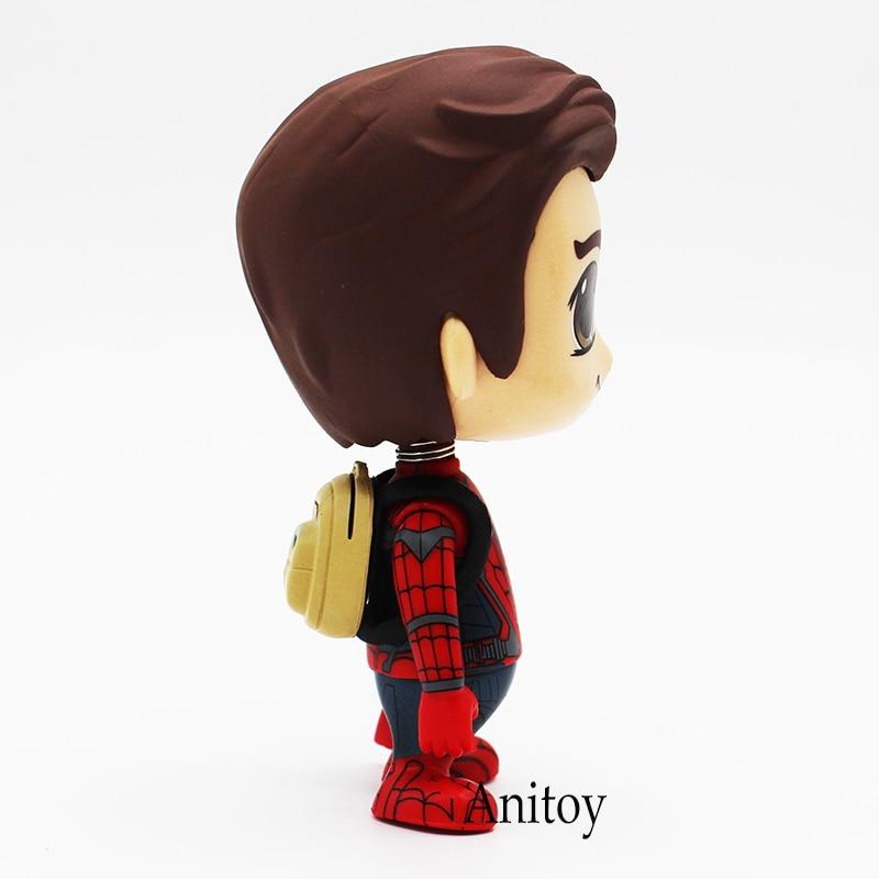 Человек-паук Homecoming Симпатичные Человек-паук Marvel ПВХ фигурку Коллекционная игрушка кукла 10,5 см KT4211