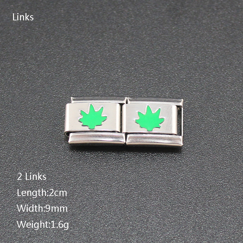 Hapiship 9mm Width Womens Jewelry Green Leaf Stainless Steel Sport Short Necklace Wish For Friend Birthday Wife Gift XL007