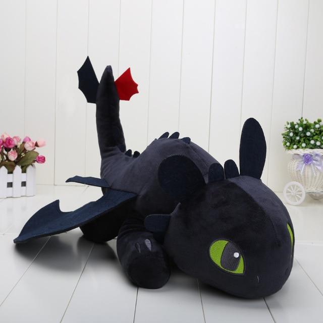 23 cm/40 cm/2 55 centímetros Como Treinar O Seu Dragão Desdentado Fúria da noite Do Dragão brinquedos Luz fúria Stuffed Animal plush Doll