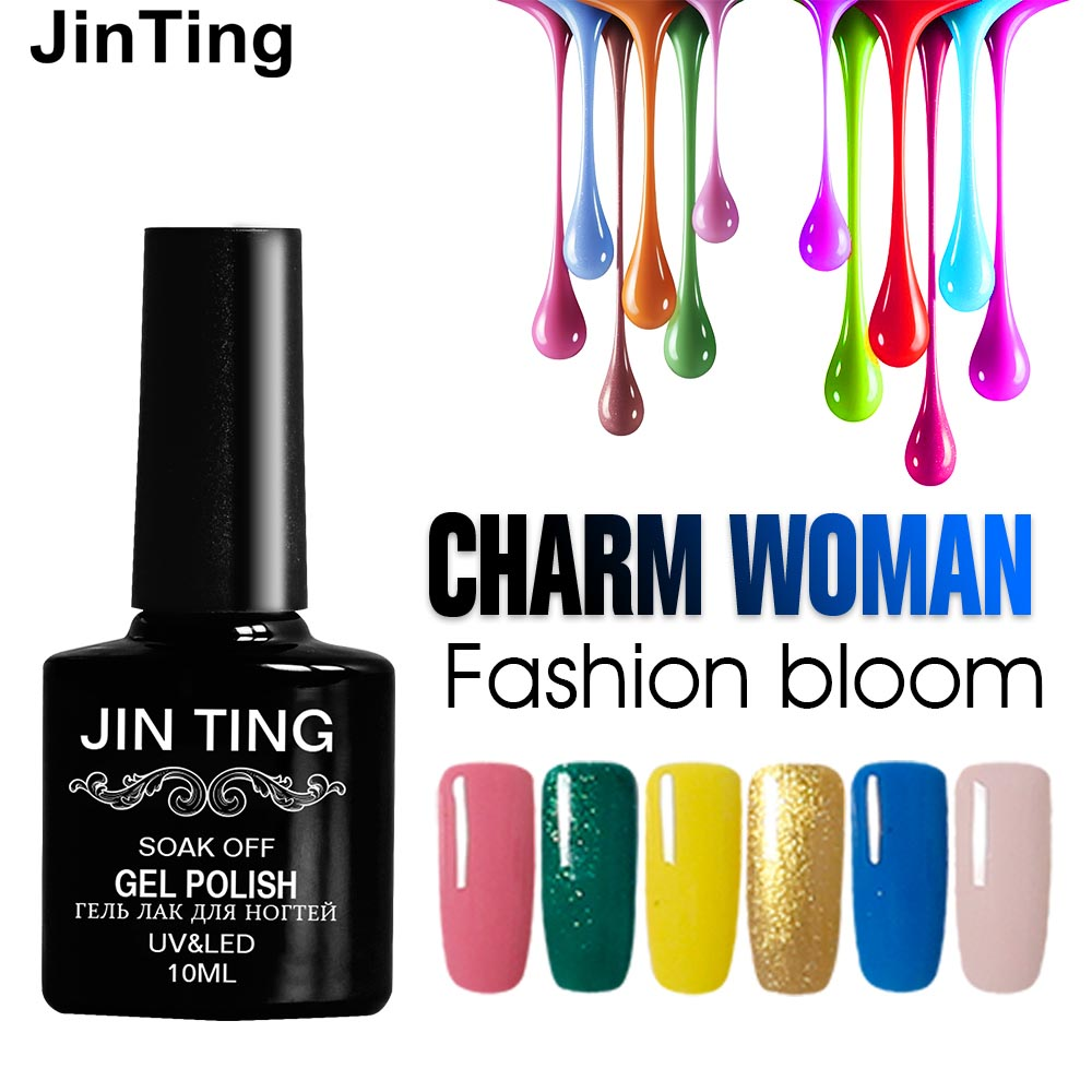 Gel Nail Polish For Sale: JinTing Black Bottle 10ML HOT SALE 36 COLORS Gel Nail