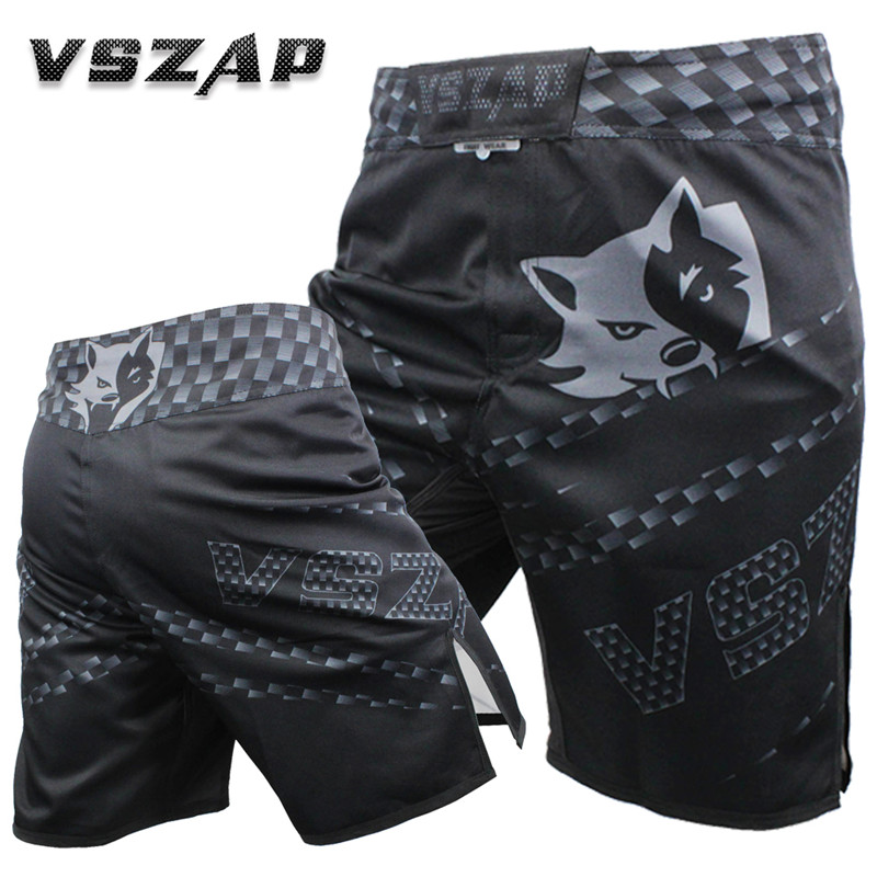2018 New Mens Bermuda   Shorts   VSZAP Sharp Fashion Combat   Shorts   Workout MMA Fitness Combat Muay Thai Sanda Mens   Shorts