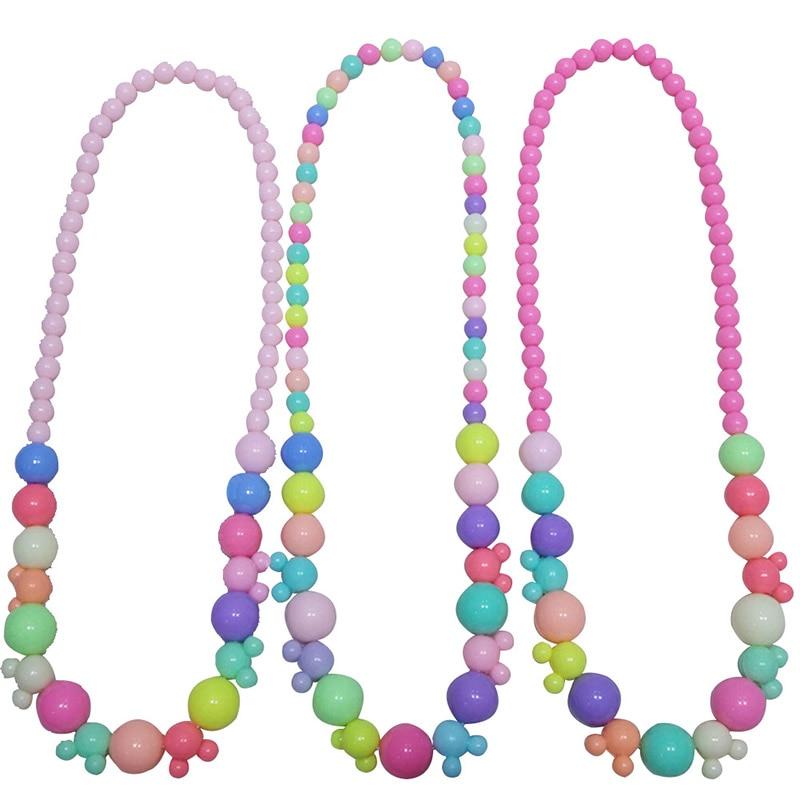 1 шт. акрил мультфильм конфеты Симпатичные ярких цветов Цепочки и ожерелья Baby Safe красивые дети принцесса ювелирные изделия