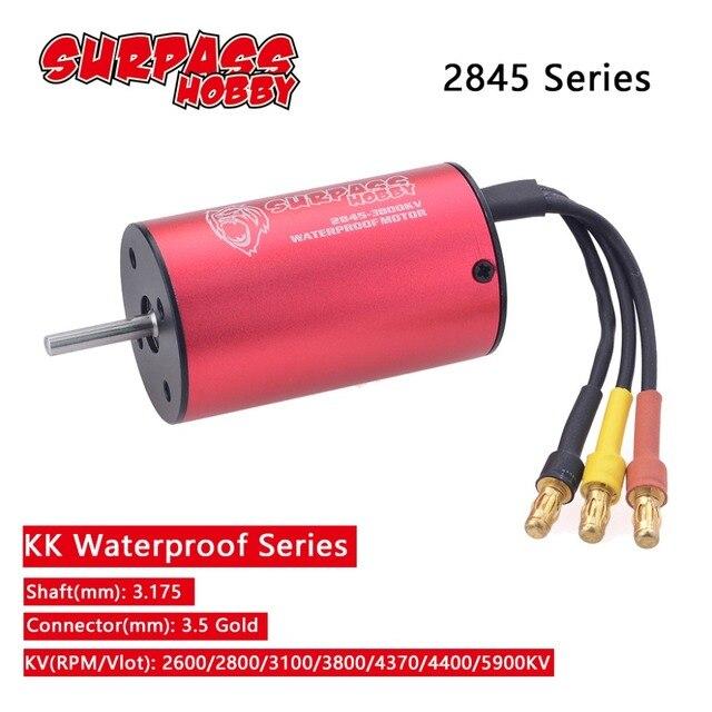 עמיד למים KK 2845 3.175mm 2600KV 2800KV 3100KV 3800KV 4370KV 4400KV 5900KV Brushless מנוע עבור Traxxas/HSP 1/12 RC רכב