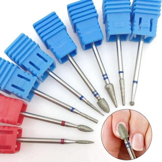 1 piezas de rotar taladro clavo Bits cutícula cortador de uñas de manicura archivos eléctrico de Burr máquina de amoladora de herramientas