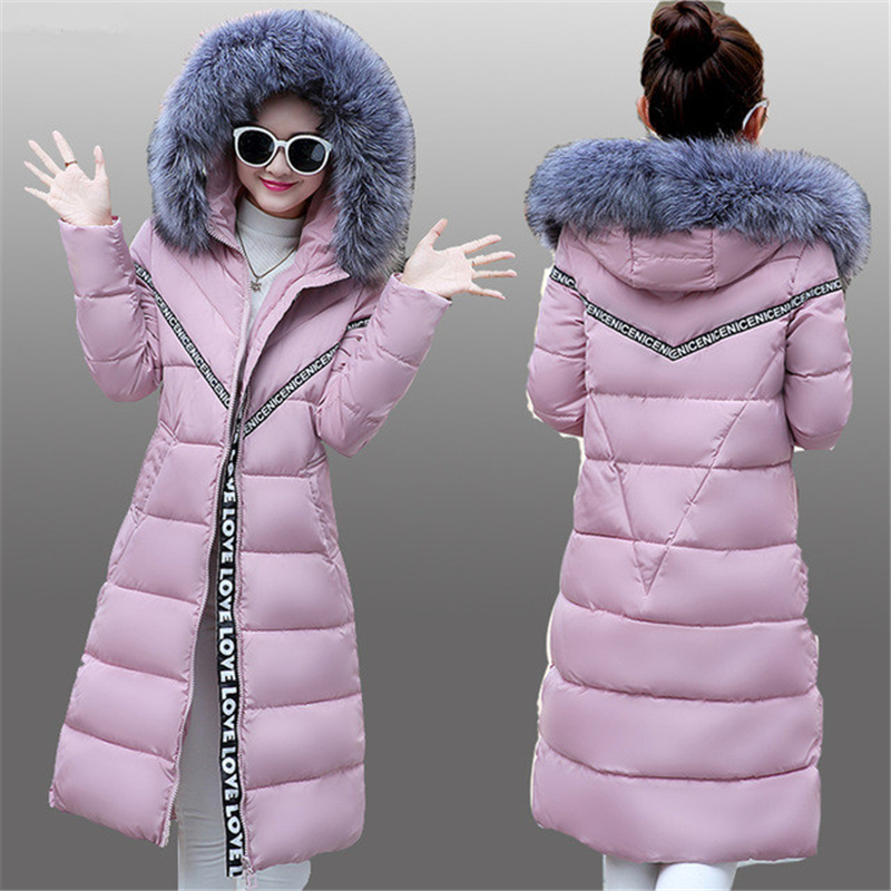 ФОТО NEW 2016 Womens Winter Jackets Thick Warm Coats Down Cotton Jacket Hooded High Quality Long Slim Cotton Coat Jacket Female W054