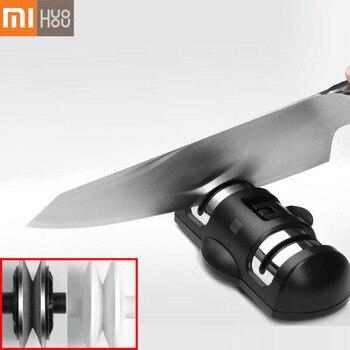 XIAOMI Mijia HUOHOU HU0045 Schärfen Stein Doppel Rad Schleifstein Blöcke K-nife Schärfen Werkzeug Schleifstein Küche Werkzeuge