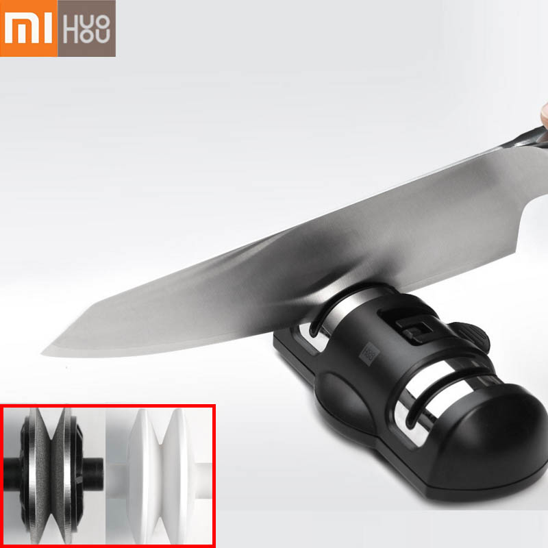 XIAOMI Mijia HUOHOU HU0045 Sharpen Stone Double Wheel Whetstone Sharpeners K-nife Sharpening Tool Grindstone Kitchen Tools