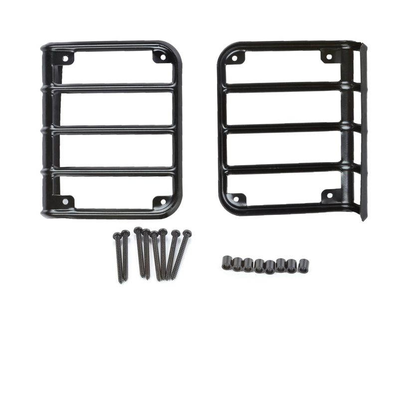 2pcs  1 pair  tail lamp guards tail light cover trim guards protector chrome for jeep wrangler 2