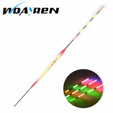 1 pcs Float Fishing Night Light Electric Fishing Float Vision Colorful Fish Electronic Float Fluorescent Fishing Bobber FA-132
