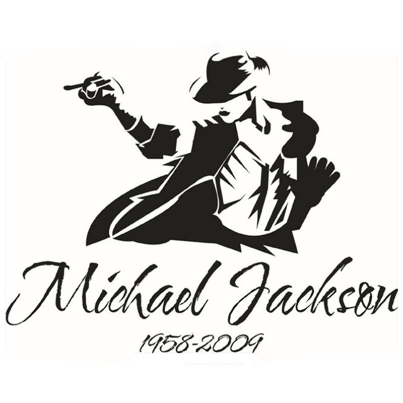 Michael Jackson Portrait Wall Stickers Music Dance Art 3d Vinyl Decals Home Decoration Living Room Vintage Poster Free Shipping In From