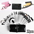 32Pcs Professional Makeup Brushes Set beauty Woman's Kabuki Foundation brush Powder Make Up Brush Tools+Bag pincel de maquiagem