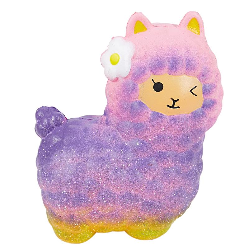 Jumbo Sheep Squishy Cute Alpaca Galaxy Super Slow Rising Scented Fun Toys For Adult And Kids (Photo Color)