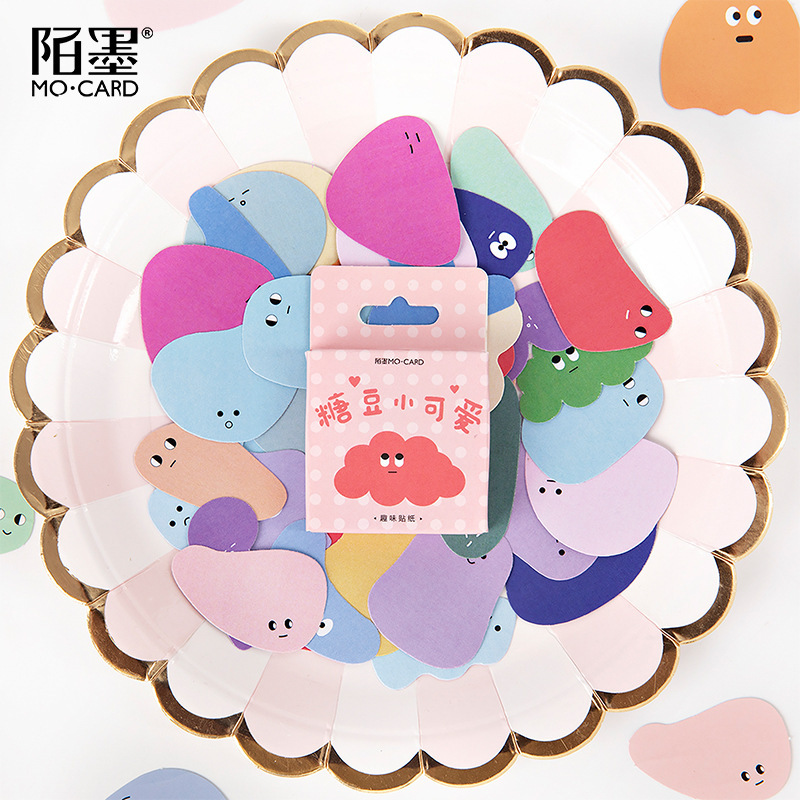 46pcs/lot Kawaii Jelly Beans Bullet Journal Decorative Stickers Scrapbooking Stick Label Diary Stationery Album Cute Box Sticker