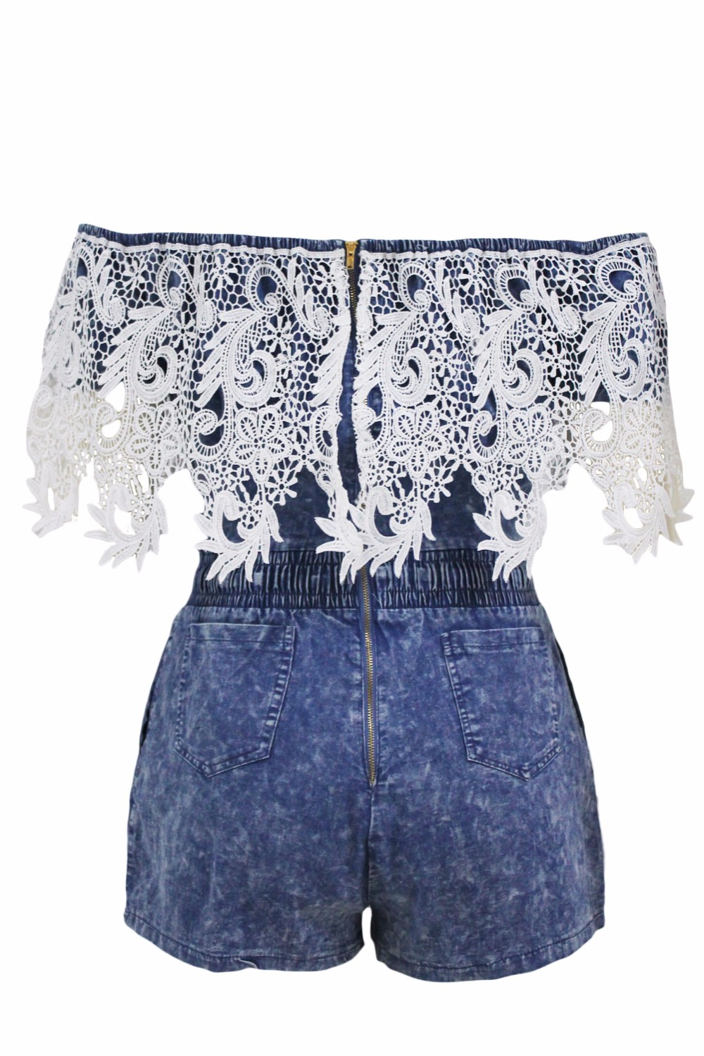 Crochet-Lace-Trim-Off-Shoulder-Denim-Romper-LC64137-5-4
