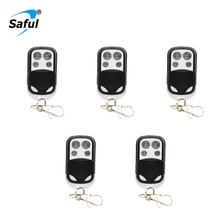 433MHz Wireless Metallic Metal Remote Control Arm Disarm Metal key fobs for Home Security Alarm System with Battery