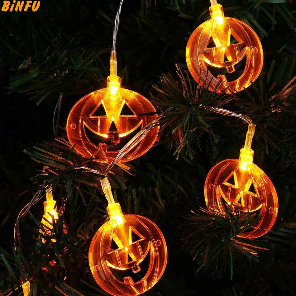 Led Halloween Lights Halloween Lights Pumpkin Decor Led String Light Pumpkin Lantern 3d Plastic Skull String Light Led Halloween Decorations Lamp In Led String From Lights
