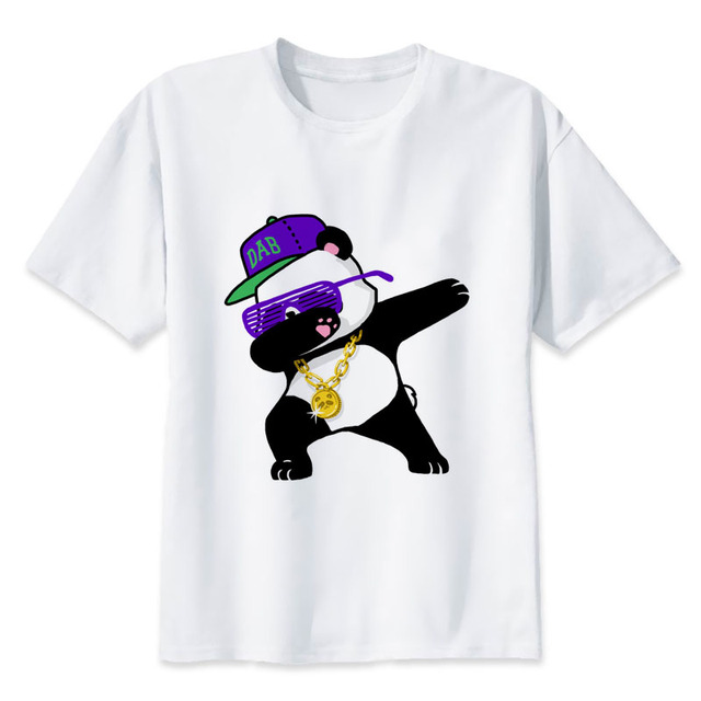 2ee77b66648 punk rock t shirt dabbing cat pug panda rabbit tshirt rapper music ...