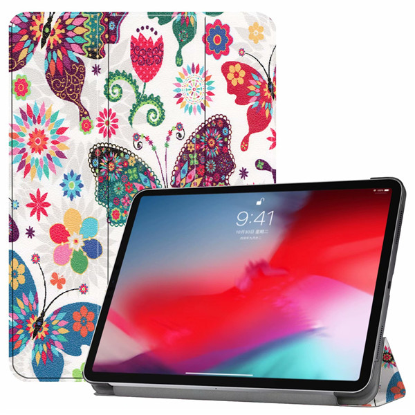 Flowers iPad Pro3 11 2018 smart case with different patterns