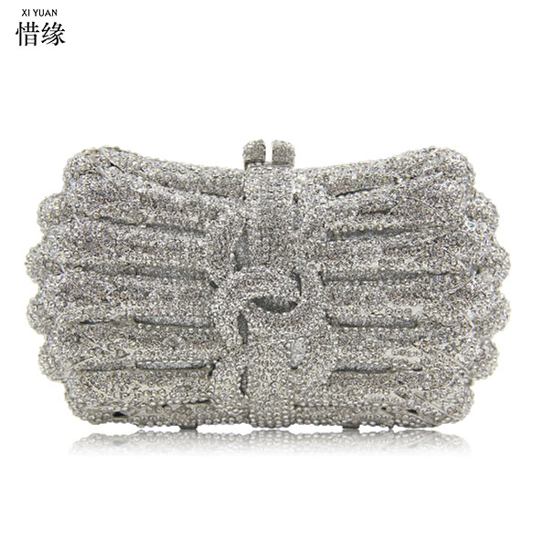 Women silver wedding Handbags Rhinestones Metal party Day Clutches Purse Evening Bags gold Diamonds Luxurious Punk Evening Bags sekusa women evening bags rhinestones metal crown handbags full of diamonds day clutches purse evening bags silver gold black