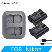 лучшая цена 2pcs camera battery en-el15 enel15 el15 digital battery for for Nikon D500,D600,D610,D750 D7000,D7100,D7200 with a charger