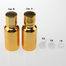 high-grade 100pcs glass 20ml essential oil bottle suppliers, hot sale golden 20 ml glass essential oil container with screw cap hot sale 100pcs 100ml glass perfume bottle with aluminum cap 100 ml essential oil bottle wholesale essential oil bottle empty