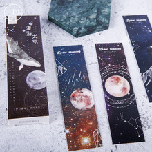 30Pcs/box Lovely Roaming Space Cartoon Paper Bookmark Book Holder Message Card Promotional Gift Stationery