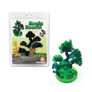 Hot 2019 14x13cm Visual DIY Green Magic Growing Paper Bonsai Tree Kit Artificial Magical Grow Trees Science Kids Christmas Toys