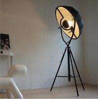 Новое поступление винтажные Америка стиль лофт диаметр 65 см ткани и Утюг Роман Креативный светодиодный E27 Торшер для гостиной кровать комна