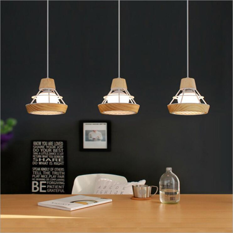 Europe nordic modern creative iron&wood led bar cafe shop pendent lamps  Modern Led Chandelier Luminaire Loft Hanglamp 1372 the cafe shop vintage clothing store small chandelier bar loft iron chandelier geometry character
