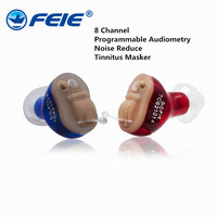 8 Channel Tinnitus Hearing Aids Adjustable Digital Tone Invisible Sound Voice Amplifier S 17A Audifonos Para Sordos for Deaf