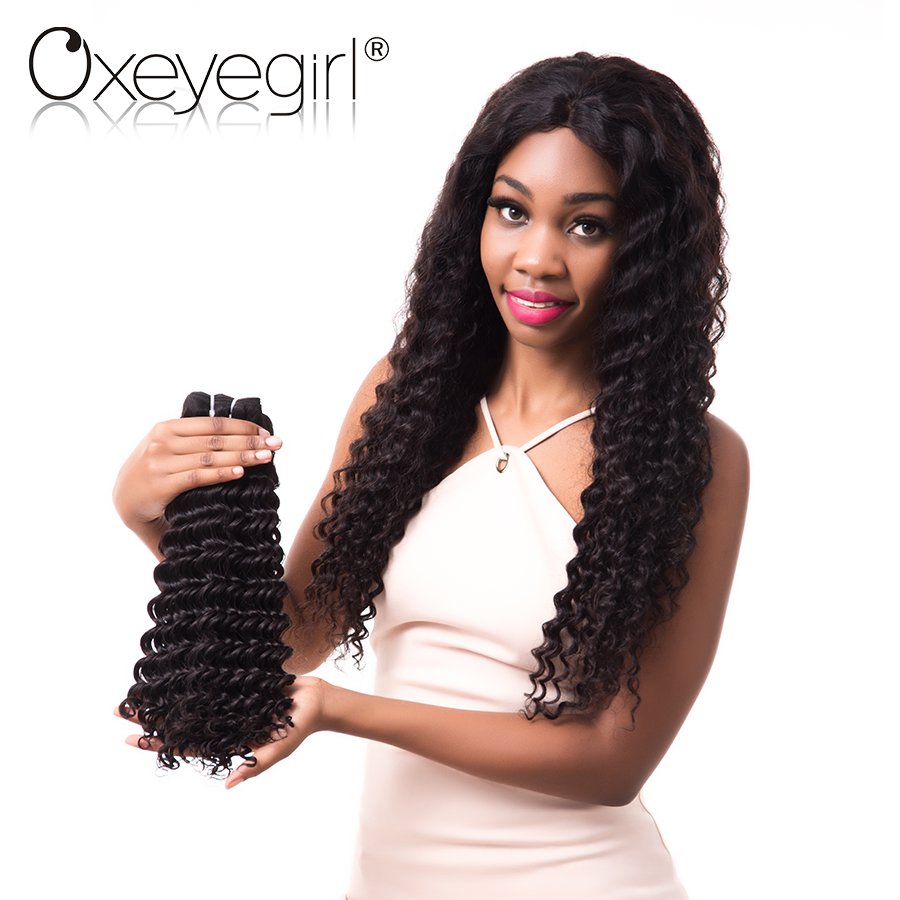 Oxeye girl Deep Wave Brazilian Virgin font b Hair b font 10 28 Inch 100