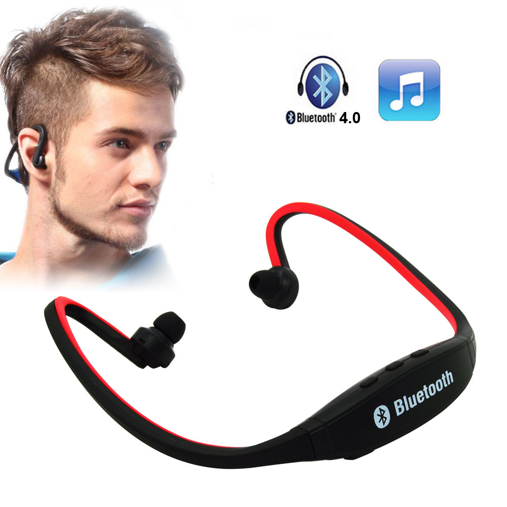 Sports Wireless Original S9 Bluetooth 4.0 Handfree Earphone Headphones Headset Support TF Card for iPhone Samsung All Phones