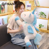 1pc 70cm big size cartoon unicorn plush pillow stuffed kawaii baby animal horse plush toy home decor unicorn dolls for children