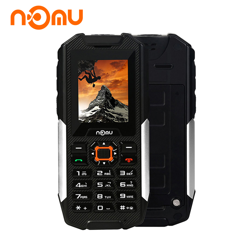 Original NOMU T10 IP68 Waterproof DustProof Shiockproof Mobile Phones GSM Dual SIM Card 2800mAh Bluetooth Flashlight