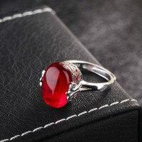 Natürliche rote korund ring lapis lazuli gehobenen elegant 925 silber ring, die alte weisen weiblichen affen öffnungen