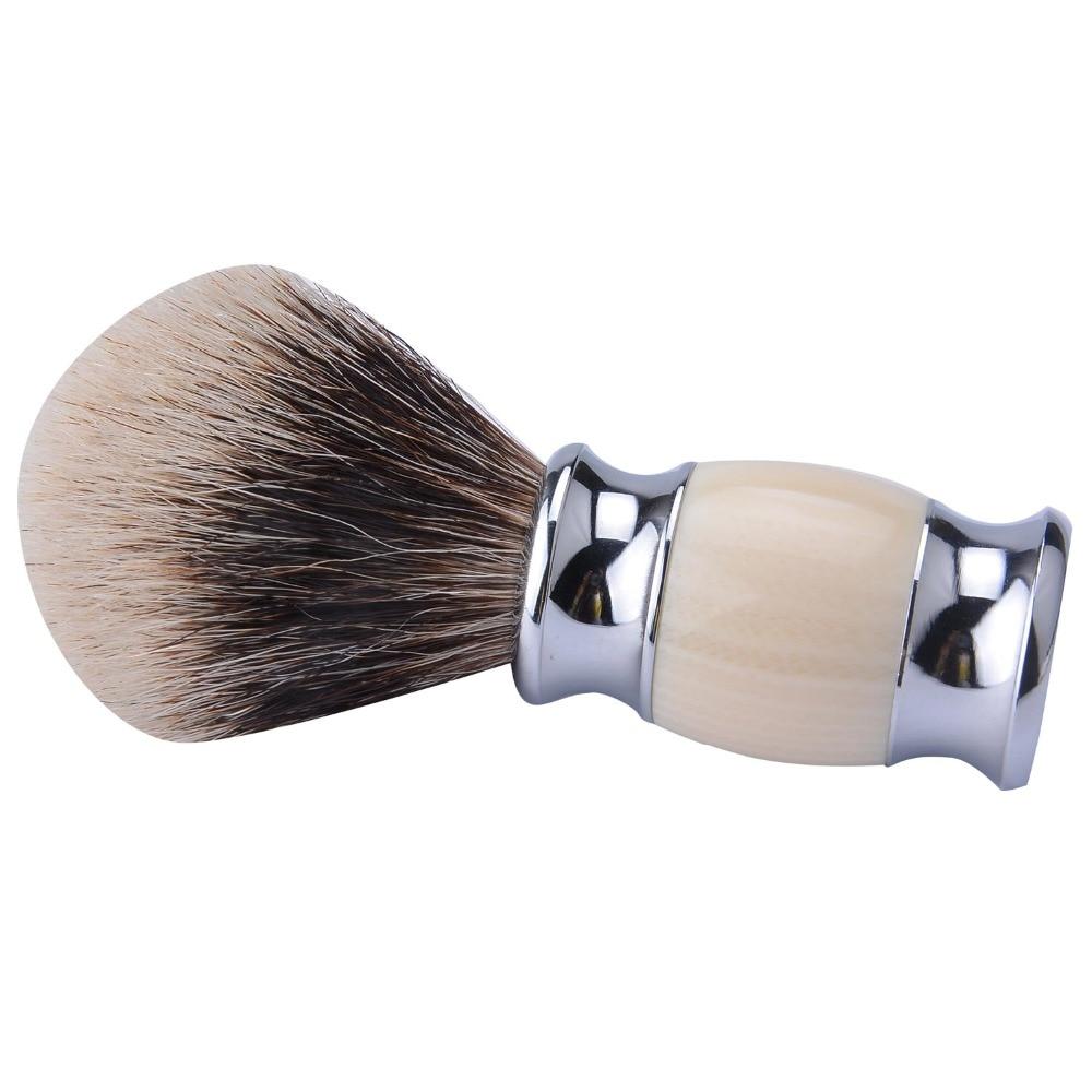 high mountain white badger shaving brush acrylic handle finest badger hair shaving razor brush two band badger barber brush ds 2 band 100% finest badger hair shaving brush & classic black resin handle 30mm knot