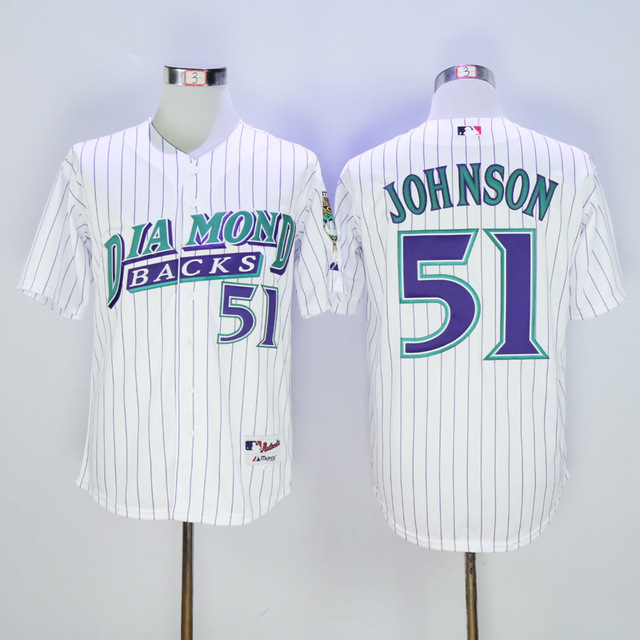 5d6937dd ... greece mens mens arizona diamondbacks randy johnson white authentic  jersey f81e4 db0c6