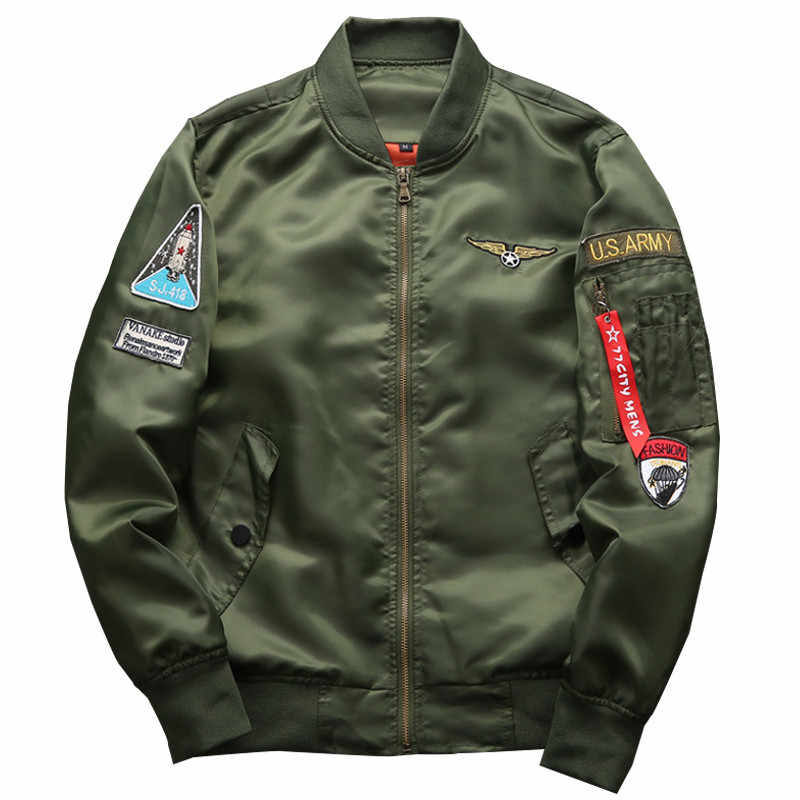 Moruancle Mode Womens Vlucht Bomber Jassen Varsity Baseball Jacket Voor Man Air Force Pilot Bovenkleding Plus Size M-6XL