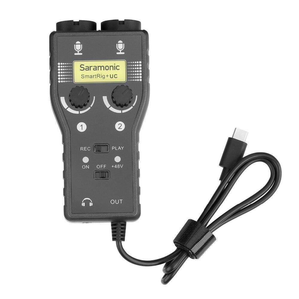 Saramonic SmartRig+ UC 2-Track XLR & 3.5mm Microphone Mixer + Guitar Audio Interface for USB Type-C Devices микрофон saramonic smartrig адаптер xlr 3 5 mm