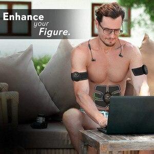 Image 5 - Ems 筋肉刺激スマートフィットネス腹部トレーニング電気減量のステッカーボディ痩身ベルトユニセックス