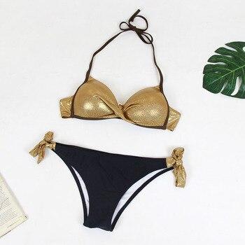 Sexy Print Swimwear Women Bikini Set 2018 New Push Up biquini Female Swimsuit Brazilian Bathing Suit bathers Beach Swimming 6