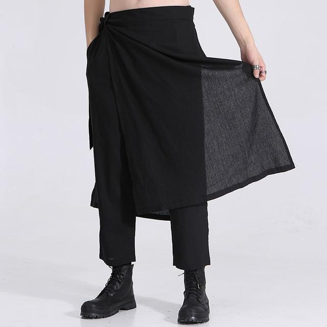 Owen Seak Men Casual Cross Pants Cotton Gothic Skirt Men's Clothing Summer Women Ankle-Length Pant Loose Black Pants Size XXL 5