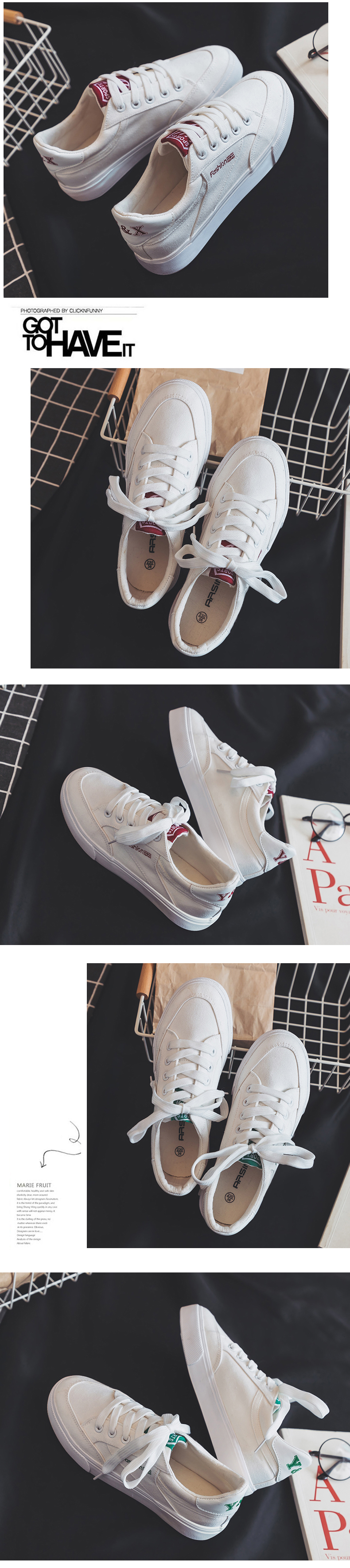 Fashion Style Women Canvas Vulcanized Shoes Simple Design Anti-Skid Sneakers for Female Comfortable Wear Resistant Casual Shoes 13