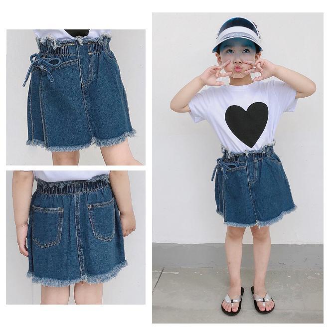 61551e987 Summer Spring Denim Skirts For Girls Baby Jean Skirts Cute Infant ...