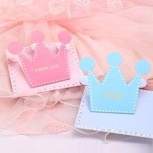 10 шт. Корона поздравительная открытка мультфильм день детей модный принц принцесса конверт-открытка DIY приглашение на вечеринку дня рождения