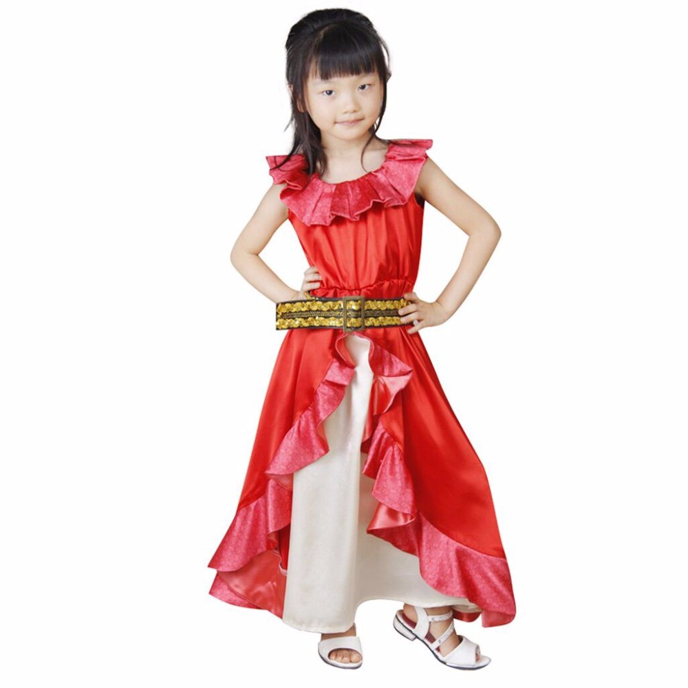 Girl's Fancy Dress Moana Red Dress Princess Moana Lovely Dress Cosplay For School Party and Carnival